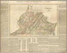 Virginia Map By Carl Ferdinand Weiland