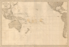 Pacific Ocean, Pacific and Australia Map By Aime Robiquet