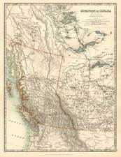 Canada Map By W. & A.K. Johnston