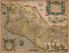Mexico Map By Theodor De Bry / Girolamo Benzoni