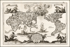 Beatam Medicient Omens Generatione [Map of the World, centered on the Pacific Ocean] By Heinrich Scherer