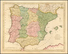 Spain and Portugal Map By Robert Wilkinson