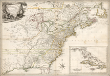 United States, New England, Mid-Atlantic, South, Southeast and Midwest Map By Jacques Esnauts / Michel Rapilly