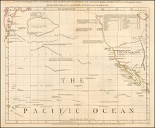 Rocky Mountains, Alaska, Baja California, Pacific and California Map By Thomas Jefferys