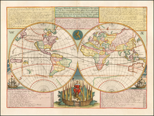 World Map By Henri Chatelain