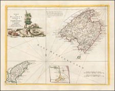 Spain and Balearic Islands Map By Antonio Zatta