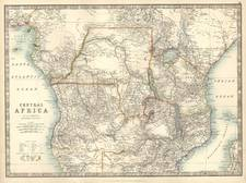 Africa, East Africa and West Africa Map By W. & A.K. Johnston