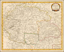 Hungary Map By Pierre Bourgoin
