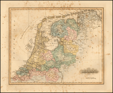 Netherlands Map By Fielding Lucas Jr.