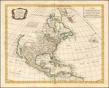 North America Map By Pierre Bourgoin