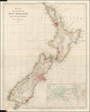 New Zealand Map By John Arrowsmith