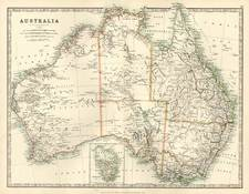 Australia & Oceania and Australia Map By W. & A.K. Johnston