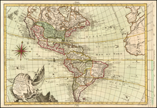 America Map By Etienne-Andre Philippe  De Pretot