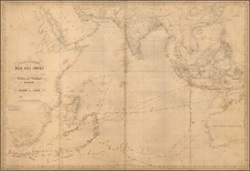 Indian Ocean, Southeast Asia, Philippines, Africa and Australia Map By Aime Robiquet