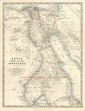 Africa and North Africa Map By W. & A.K. Johnston