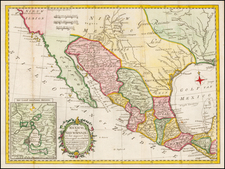 Texas, Southwest, Mexico and Baja California Map By A. Krevelt
