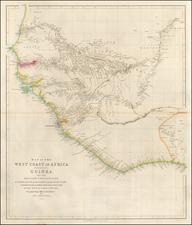 West Africa Map By John Arrowsmith