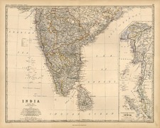 Asia, India and Southeast Asia Map By W. & A.K. Johnston