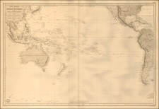 Pacific Ocean and Pacific Map By Depot de la Marine