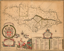Jamaica Map By John Seller