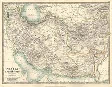 Asia, Central Asia & Caucasus and Middle East Map By W. & A.K. Johnston