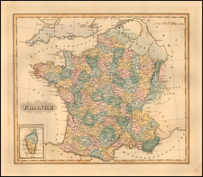 France Map By Fielding Lucas Jr.