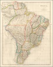 Brazil Map By John Arrowsmith
