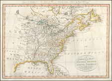 A Correct Map of the United States of North America.  Including the British and Spanish Territories, carefully laid down agreeable to the Treaty of 1784 . . . By Thomas Bowen