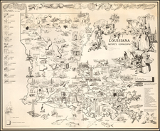 Louisiana Map By Louisiana Department of Highways / Carl Vernon Corley