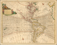 Western Hemisphere and America Map By Thomas Bowen