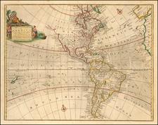 Western Hemisphere and America Map By Thomas Bowen