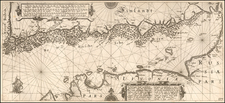 Russia, Baltic Countries and Finland Map By Willem Janszoon Blaeu