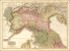 Northern Italy Map By John Pinkerton