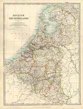 Europe and Netherlands Map By W. & A.K. Johnston