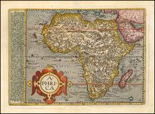 Africa Map By Matthias Quad / Johann Bussemachaer