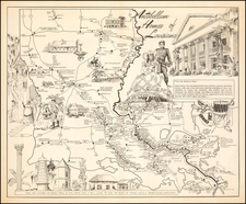 Louisiana and Pictorial Maps Map By Louisiana Department of Highways / Carl Vernon Corley