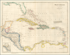 Florida, Caribbean and Central America Map By John Arrowsmith
