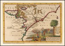 Southeast, Virginia, North Carolina and South Carolina Map By Pieter van der Aa