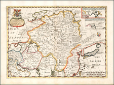 A New Map of Great Tartary and China, with the adjoyning Parts of Asia, Taken from Mr. De Fer's Map of Asia.  Dedicated to His Highness William Duke of Glocester By Edward Wells