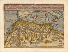 Barbaria, Africana, et Biledulgerid. . . 1603 By Matthias Quad / Johann Bussemachaer