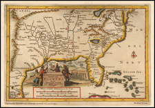 Florida, South, Southeast and Midwest Map By Pieter van der Aa