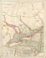 New York State, Midwest and Canada Map By John Arrowsmith