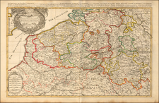 Netherlands and Luxembourg Map By Pierre Mortier