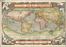 Typus Orbis Terrarum By Francois De Belleforest