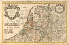 Netherlands Map By Alexis-Hubert Jaillot