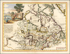 Midwest and Canada Map By Giambattista Albrizzi