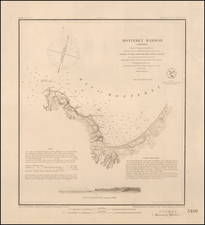 Monterey Harbor California . . . 1852  (Thick Paper Copy) By U.S. Coast & Geodetic Survey