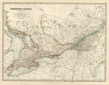 Midwest and Canada Map By W. & A.K. Johnston