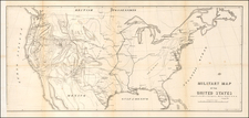 United States Map By U.S. War Department