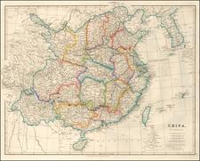 China and Korea Map By John Arrowsmith